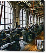 The Machine Shop Acrylic Print by Paul Ward