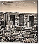The Magic City Sepia Acrylic Print by Ken Johnson