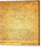 The Magna Carta 1215 Acrylic Print by Design Turnpike