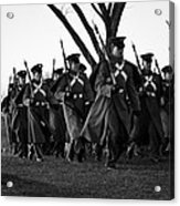 The March Begins Inauguration2013 Acrylic Print by Benjamin Burgess