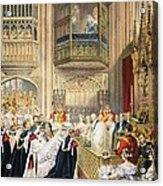 The Marriage At St Georges Chapel Acrylic Print by English School