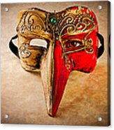 The Mask On The Floor Acrylic Print by Bob Orsillo