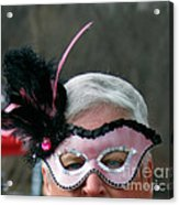 The Masked Warrior  Acrylic Print by Steven  Digman