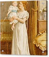 The Master Of The House Acrylic Print by George Goodwin Kilburne