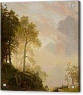The Merced River In Yosemite Acrylic Print by Albert Bierstadt