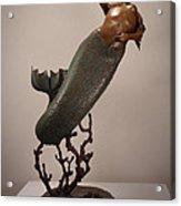 The Mermaid Acrylic Print by Lisbeth Sabol