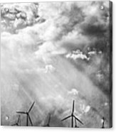 The Mighty Wind Palm Springs Acrylic Print by William Dey