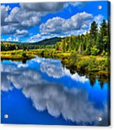 The Moose River From The Green Bridge Acrylic Print by David Patterson