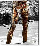 The Mud Hatter  Acrylic Print by Steven  Digman