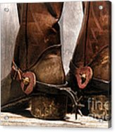 The Muddy Boots Acrylic Print by Olivier Le Queinec