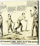 The National Game - Abraham Lincoln Plays Baseball Acrylic Print by Digital Reproductions
