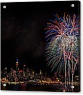 The New York City Skyline Sparkles Acrylic Print by Susan Candelario