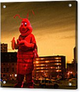 The Night Of The Lobster Man Acrylic Print by Bob Orsillo