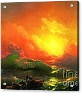 The Ninth Wave Acrylic Print by Pg Reproductions