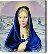 The Nordic Madonna Acrylic Print by Nathalie Chavieve
