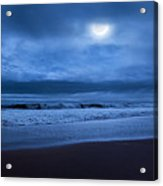 The Ocean Moon Square Acrylic Print by Bill Wakeley