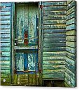 The Old Blue Door Acrylic Print by Julie Dant