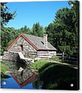 The Old Grist Mill Acrylic Print by Georgia Hamlin