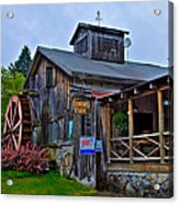 The Old Mill Restaurant - Old Forge New York Acrylic Print by David Patterson