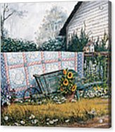The Old Quilt Acrylic Print by Michael Humphries