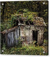 The Old Shack In The Woods - Autumn At Long Pond Ironworks State Park Acrylic Print by Gary Heller