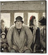 The Omnibus Acrylic Print by Honore Daumier