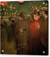The Open Air Party Acrylic Print by Ramon Casas i Carbo
