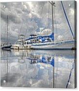 The Outer Pier Acrylic Print by John Adams