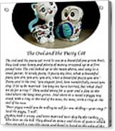 The Owl And The Pussy Cat Acrylic Print by John Chatterley