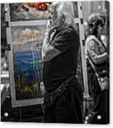 The Painter And His Paintings Acrylic Print by Erik Brede