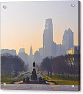 The Parkway In The Morning Acrylic Print by Bill Cannon