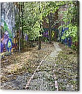 The Path Of Graffiti Acrylic Print by Jason Politte