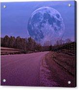 The Peace Moon  Acrylic Print by Betsy Knapp