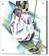 The Penalty Box Acrylic Print by Leslie Franklin