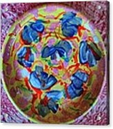 The Pink And Blue Plate Acrylic Print by Martha Nelson