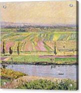 The Plain Of Gennevilliers From The Hills Of Argenteuil Acrylic Print by Gustave Caillebotte