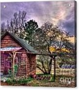The Play House At Sunset Near Lake Oconee. Acrylic Print by Reid Callaway