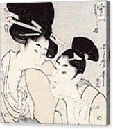 The Pleasure Of Conversation Acrylic Print by Kitagawa Utamaro