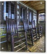 The Porch Acrylic Print by Debra and Dave Vanderlaan
