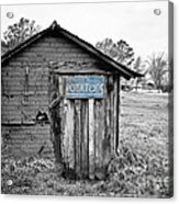 The Potato Shed Acrylic Print by Scott Pellegrin