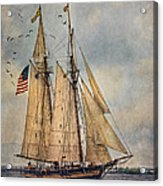 The Pride Of Baltimore II Acrylic Print by Dale Kincaid