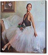 The Prima Ballerina Acrylic Print by Anna Rose Bain