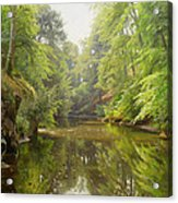 The Quiet River Acrylic Print by Peder Monsted