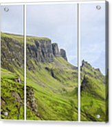 The Quiraing Triptych Acrylic Print by Chris Thaxter
