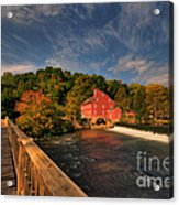The Red Mill Acrylic Print by Paul Ward