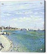 The Regatta At Sainte-adresse Acrylic Print by Claude Monet