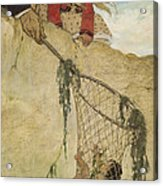 The Rescue Circa 1916 Acrylic Print by Aged Pixel