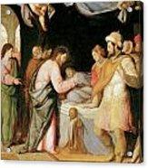 The Resurrection Of Jairus's Daughter Acrylic Print by Santi Di tito