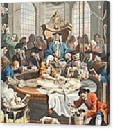 The Reward Of Cruelty, From The Four Acrylic Print by William Hogarth