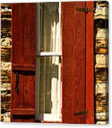 The Reynold's Cabin Window Acrylic Print by Catherine Fenner
